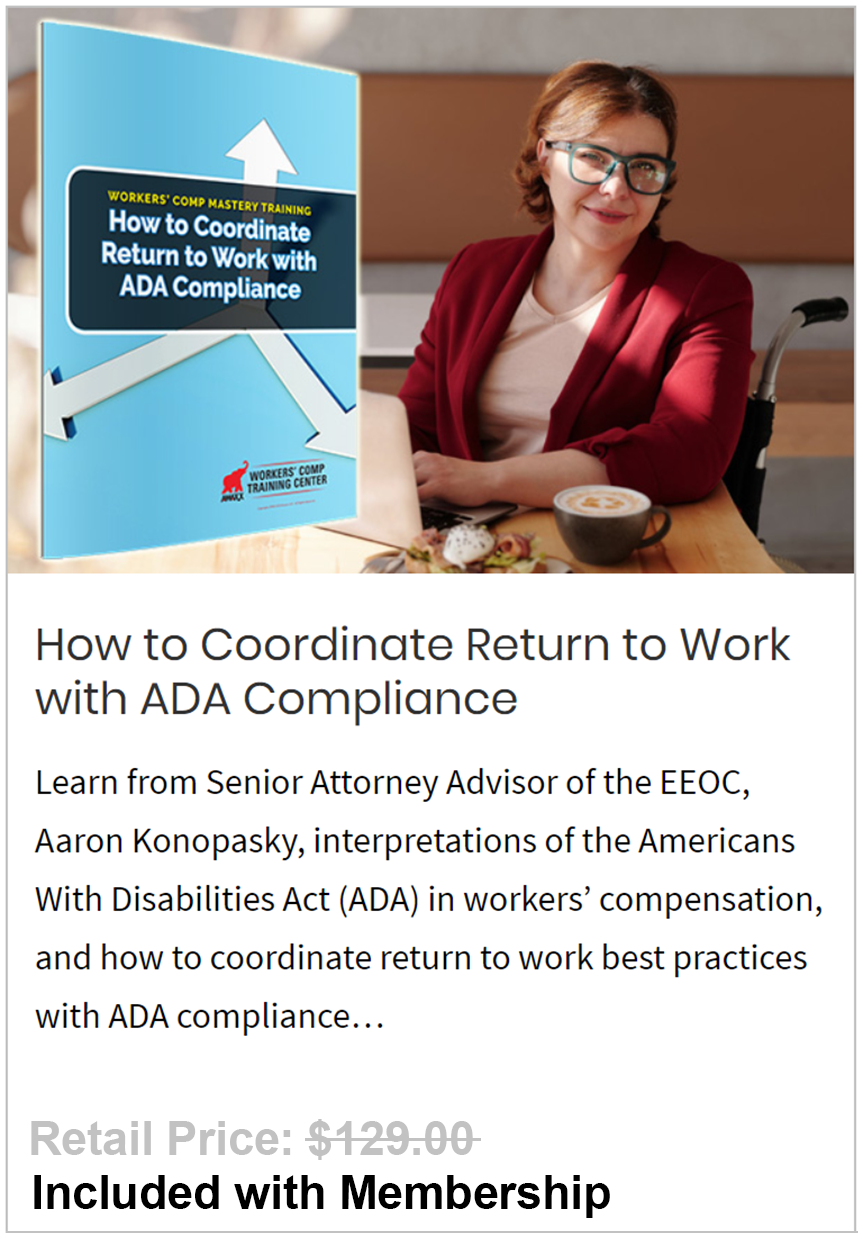 Coordinate Return to Work with ADA Compliance