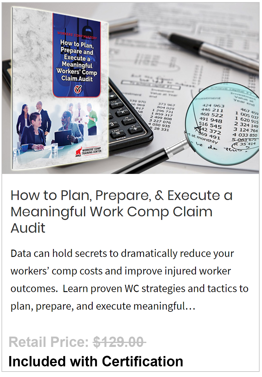 Plan, Prepare, & Execute a Meaningful Work Comp Claim Audit