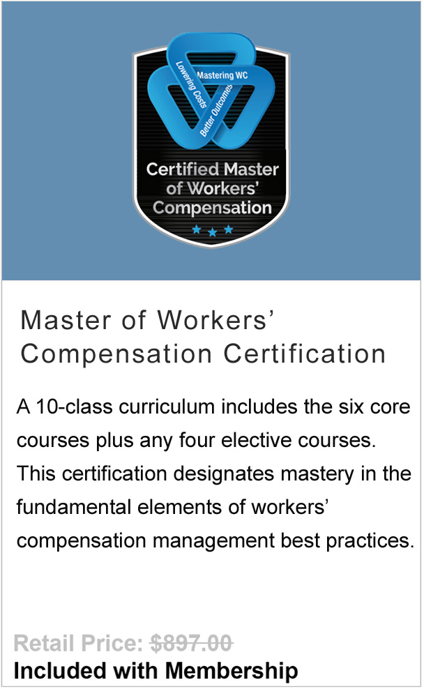 Workers' Compensation Mastery Certification